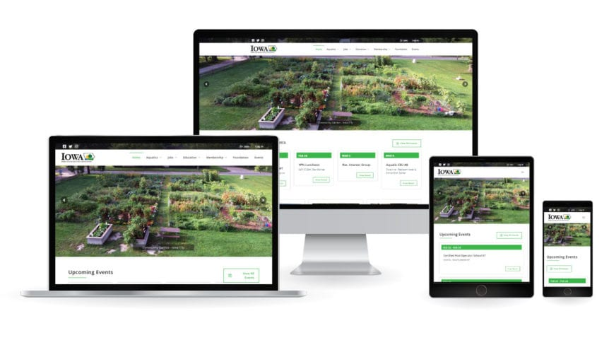 Iowa Parks & Recreation NEw Web Design Mockup