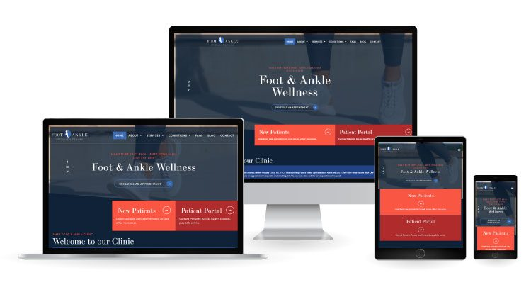 Foot & Ankle Specialists of Ames Website Mockup